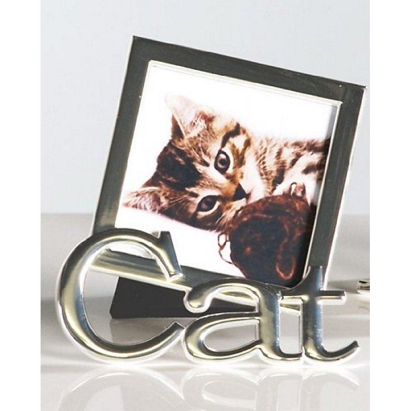 Weinlese eingestellte Katze Kitty Fotorahmen