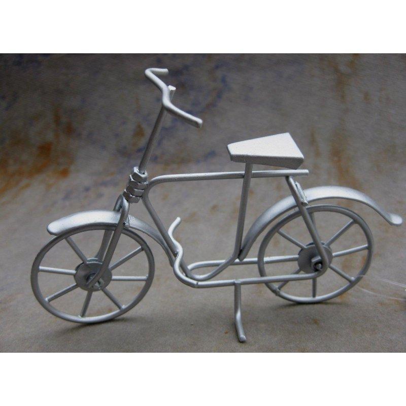 Dekoration fahrrad bike silberfarben 7 50 lifestyle kreativ - Dekoration fahrrad ...