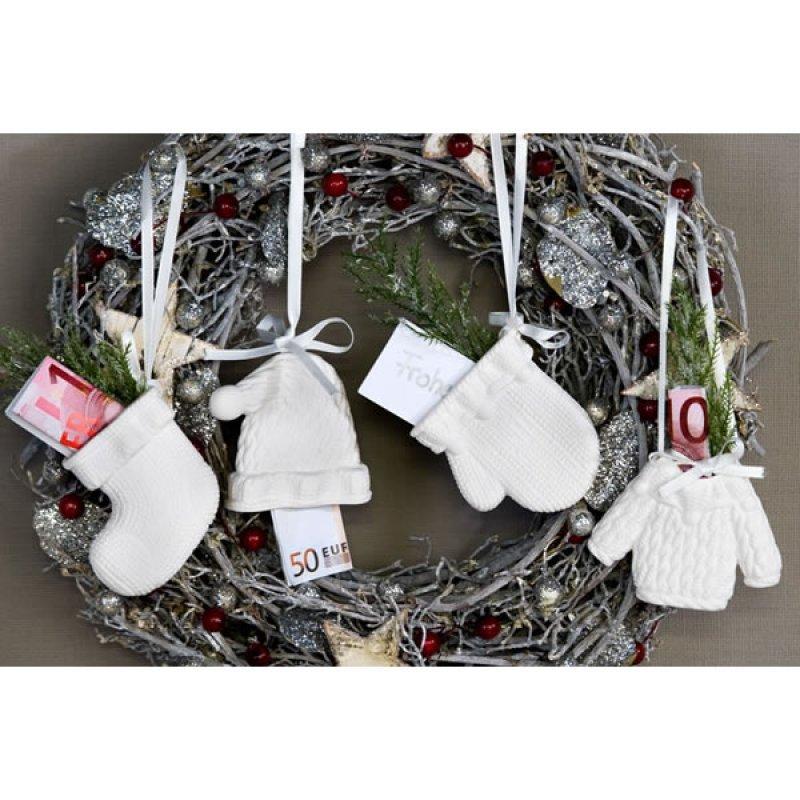 h nger geldgeschenk strick weihnachten 4 st ck anh nge. Black Bedroom Furniture Sets. Home Design Ideas