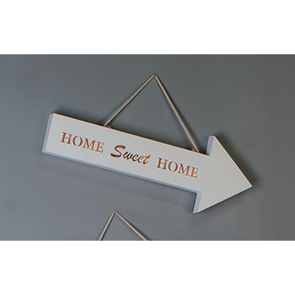 led schild schriftzug rechts 39 home sweet home 39 holz wand. Black Bedroom Furniture Sets. Home Design Ideas