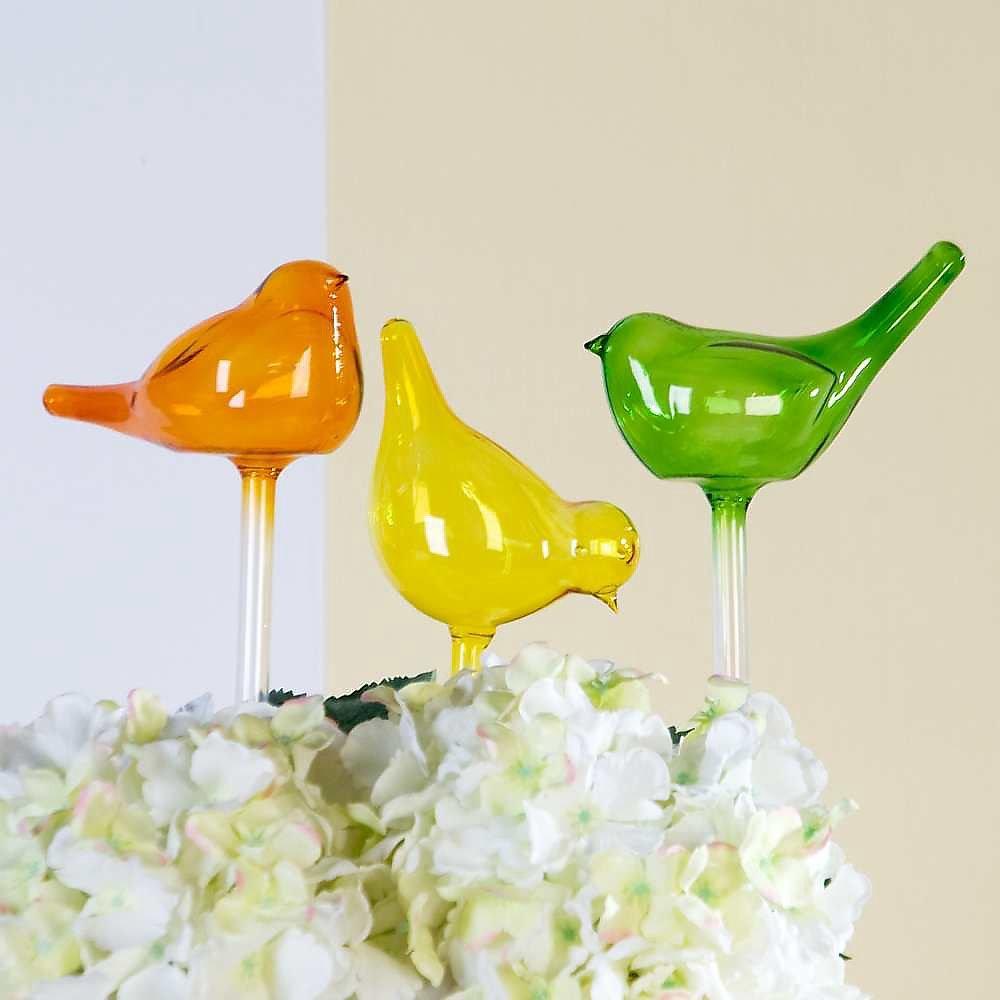 dekoration glas vogel blumentopf glasv gel wintergarten 29 90. Black Bedroom Furniture Sets. Home Design Ideas