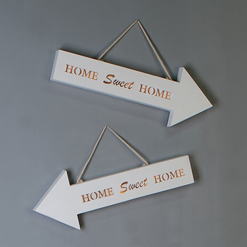 led schild schriftzug rechts 39 home sweet home 39 holz wand deko 15 90. Black Bedroom Furniture Sets. Home Design Ideas