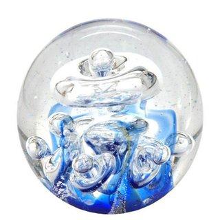Briefbeschwerer Traumkugel Delphine /über Welle Glaskugel 6cm Wunschkugel Kugel Glas ca