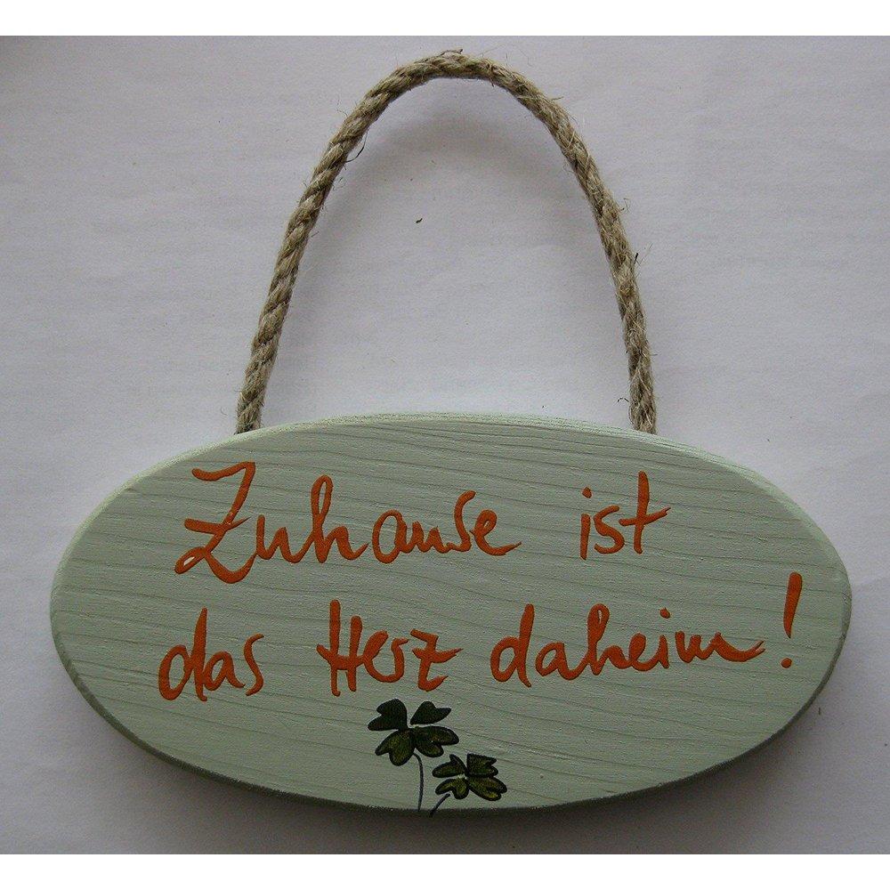 Turschild Wandschild Zuhause Ist Das Herz Daheim Haus Schild Holz