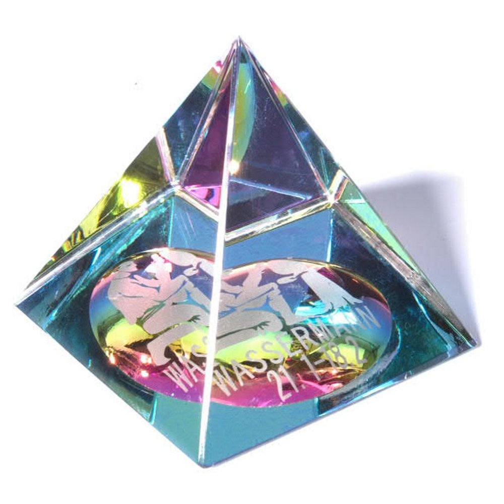 21 Januar Sternzeichen sternzeichen glas pyramide - wassermann 21. januar - 19. februar