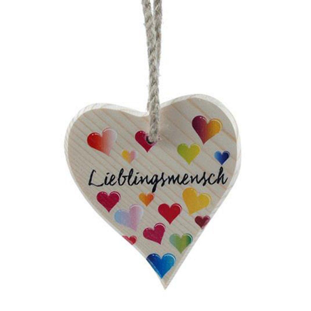 Lieblingsmensch Turschild Wandschild Herz Holz Mitbringsel Liebe