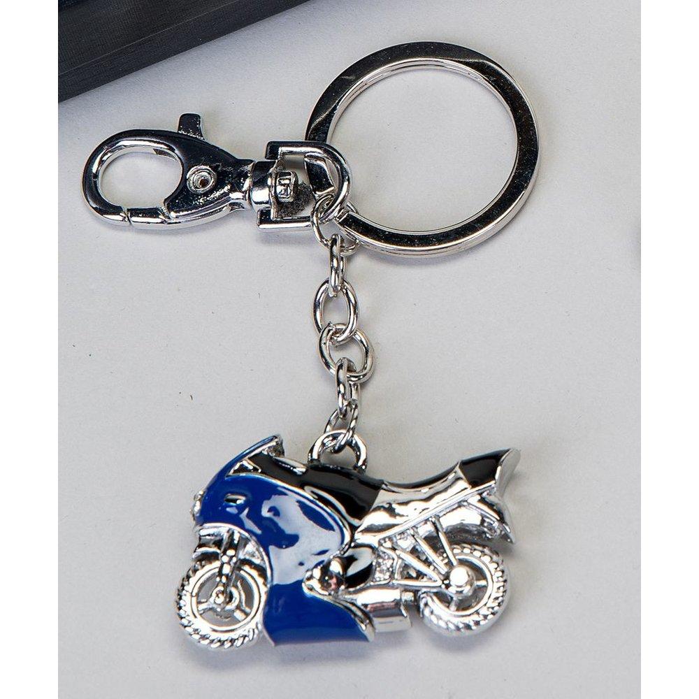 Schlusselanhanger Motorrad Blau Moped Roller Geldgeschenk