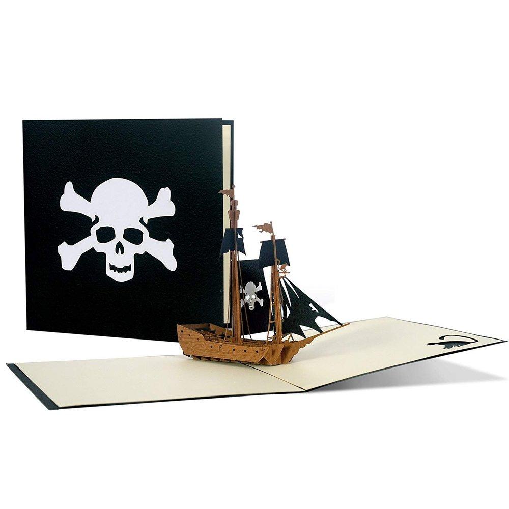 Pop Up Piratenschiff, Gutschein für eine Schiffsreise ...