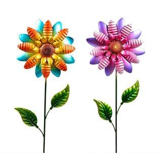 Stecker Schmetterling auf Blume 105cm