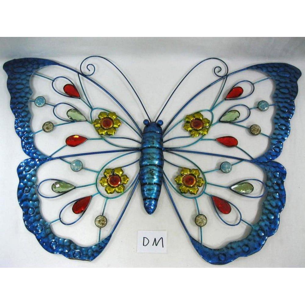 Deko Schmetterlinge Für Die Wand wanddeko schmetterling blau wanddekoration garten deko wand