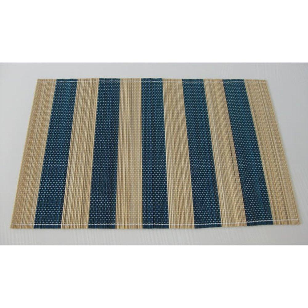Edles Bambus Tischset Platzdeckchen Platzset Blau Natur Lifestyle