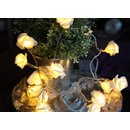 LED-Lichterkette Rosen Korb 15 LED warm weiss LED Kabel: transparent