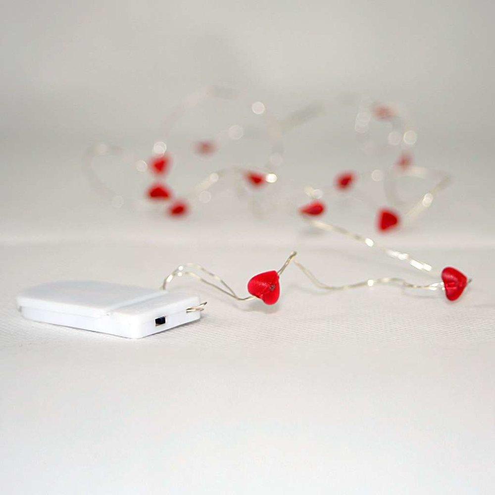 led draht lichterkette string 12teilig roter herzen led rot 8 20 eu. Black Bedroom Furniture Sets. Home Design Ideas